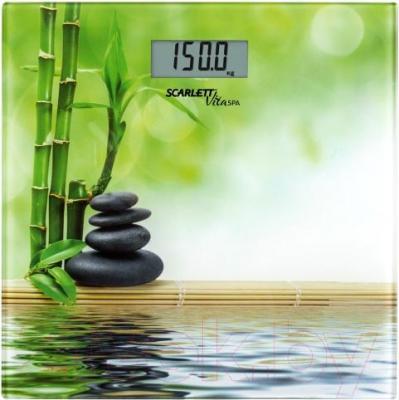 Напольные весы электронные Scarlett SC-BS33E055 (бамбук)