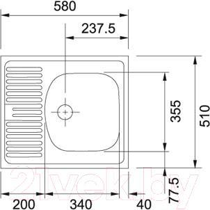 Мойка кухонная Franke ETN 611-58 (101.0009.362)