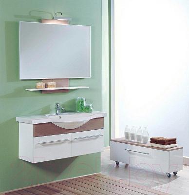 Зеркало для ванной Акватон Логика 110 (1A0521L1LOD60) - в интерьере