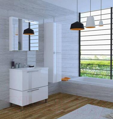 Шкаф с зеркалом для ванной Акватон Марко 80 (1A181102MO010) - в интерьере
