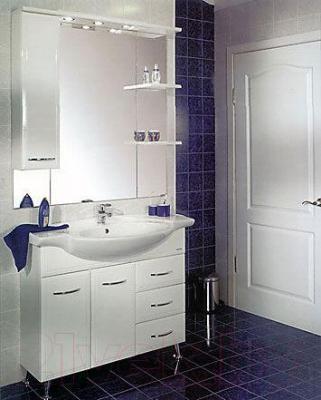Шкаф с зеркалом для ванной Акватон Эмили 105 (1A008602EM01L) - в интерьере