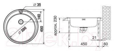 Мойка кухонная Franke ROL 610-38 (101.0179.457)