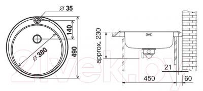 Мойка кухонная Franke RON 610-38 (101.0179.453)