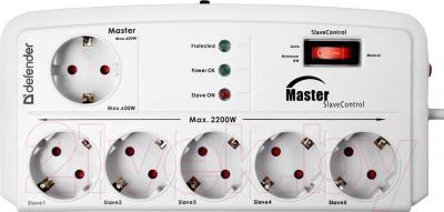 Сетевой фильтр Defender DFS-805 / 99453 (5м, 6 розеток, белый)