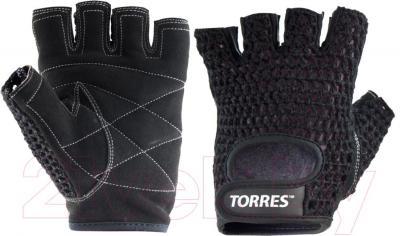 Перчатки для пауэрлифтинга Torres PL6045L (L, черный)