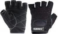 Перчатки для пауэрлифтинга Torres PL6045M (M, черный) -