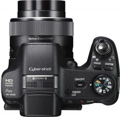 Компактный фотоаппарат Sony Cyber-shot DSC-HX200 - вид сверху