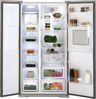 Холодильник с морозильником Beko GNEV420B - общий вид