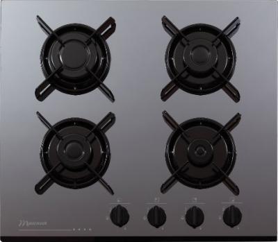 Газовая варочная панель MasterCook GCF 64 SIL - общий вид