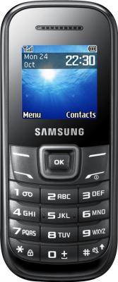 Мобильный телефон Samsung E1200 (черный) - вид спереди
