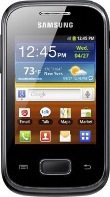 Смартфон Samsung S5300 Galaxy Pocket Black (GT-S5300 ZKASER) - вид спереди