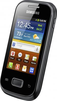 Смартфон Samsung S5300 Galaxy Pocket Black (GT-S5300 ZKASER) - общий вид