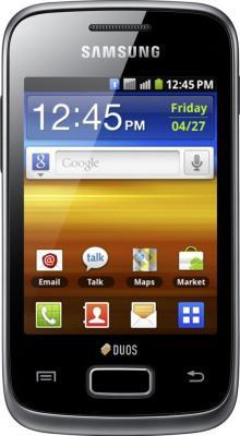 Смартфон Samsung Galaxy Y Duos / S6102 (черный) - вид спереди