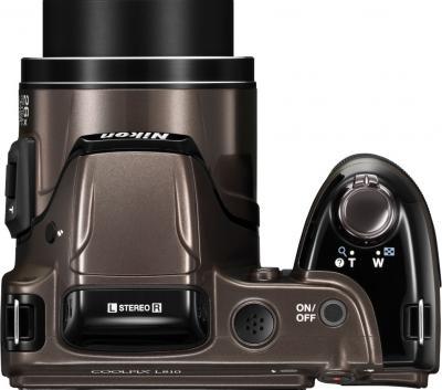 Компактный фотоаппарат Nikon COOLPIX L810 Bronze - Вид сверху