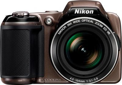 Компактный фотоаппарат Nikon COOLPIX L810 Bronze - Вид спереди