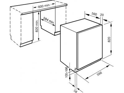 Стиральная машина Smeg LST147 - схема встраивания