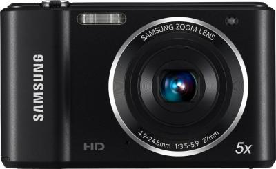 Компактный фотоаппарат Samsung ES90 (EC-ES90ZZBPBRU) Black - вид спереди