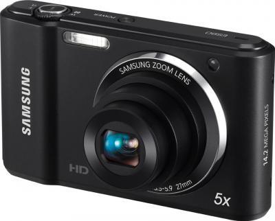 Компактный фотоаппарат Samsung ES90 (EC-ES90ZZBPBRU) Black - общий вид