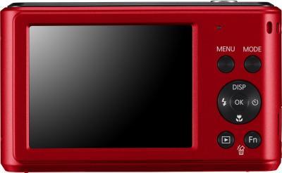 Компактный фотоаппарат Samsung ES90 (EC-ES90ZZBPRRU) Red - вид сзади