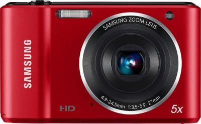 Компактный фотоаппарат Samsung ES90 (EC-ES90ZZBPRRU) Red - вид спереди