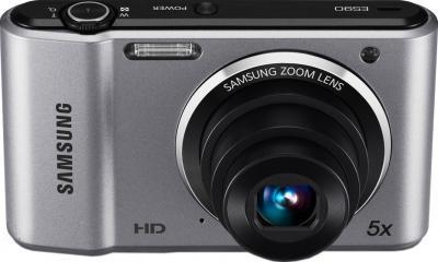 Компактный фотоаппарат Samsung ES90 (EC-ES90ZZBPSRU) Silver - вид спереди