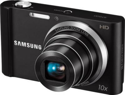 Компактный фотоаппарат Samsung ST200 (EC-ST200ZBPBRU) Black - общий вид