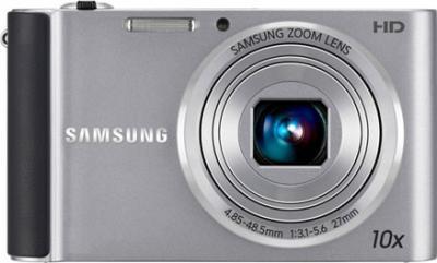 Компактный фотоаппарат Samsung ST200 (EC-ST200ZBPSRU) Silver - вид спереди