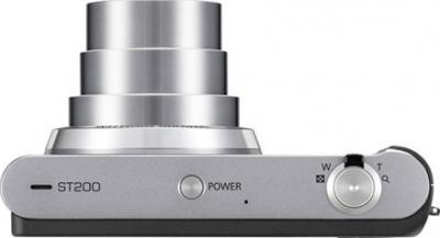 Компактный фотоаппарат Samsung ST200 (EC-ST200ZBPSRU) Silver - вид сверху