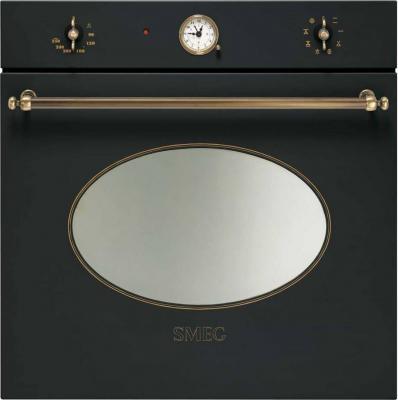 Электрический духовой шкаф Smeg SC800A-8 - вид спереди