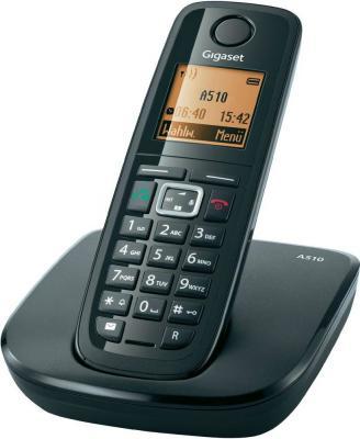 Беспроводной телефон Gigaset A510 - общий вид (черный)