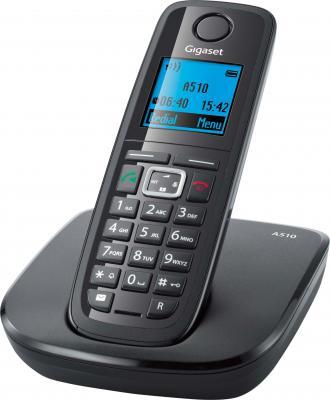 Беспроводной телефон Gigaset A510 - общий вид (серый)