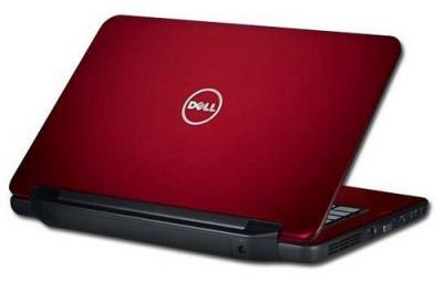 Ноутбук Dell Inspiron N5050 (272056030) - сзади полуоткрытый