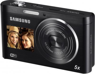 Компактный фотоаппарат Samsung DV300F (EC-DV300FBPBRU) Black - Вид спереди