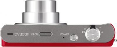 Компактный фотоаппарат Samsung DV300F (EC-DV300FBPRRU) Silver-Red - вид сверху