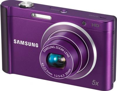 Компактный фотоаппарат Samsung ST88 (EC-ST88ZZBPLRU) Purple - Вид спереди