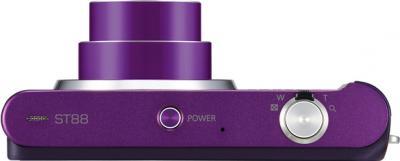 Компактный фотоаппарат Samsung ST88 (EC-ST88ZZBPLRU) Purple - Вид сверху