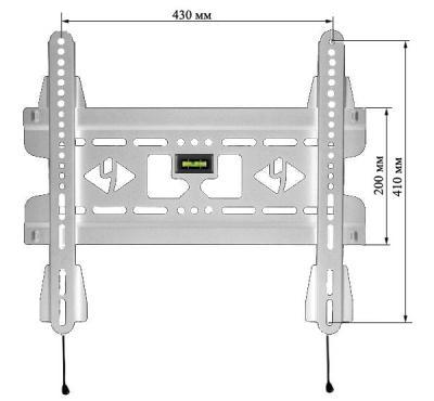Кронштейн для телевизора Kromax Vega-50 (белый) - изображение с размерами