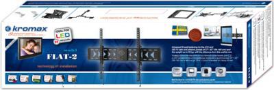 Кронштейн для телевизора Kromax Flat-2 (темно-серый) - упаковка