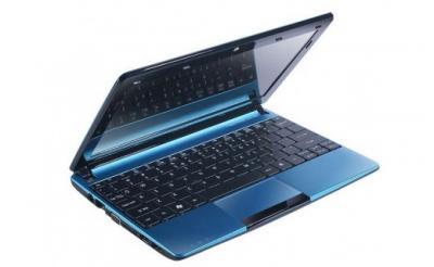 Ноутбук Acer Aspire AOD270-26Cbb (NU.SGDEU.002) - спереди полуоткрытый