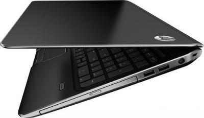 Ноутбук HP Pavilion m6-1030er (B3Z23EA) - Вид сбоку приоткрытый