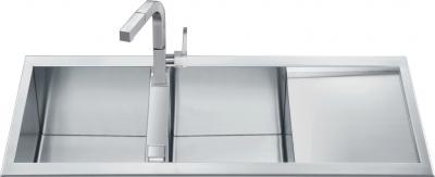 Мойка кухонная Smeg LQR116F-2 - общий вид