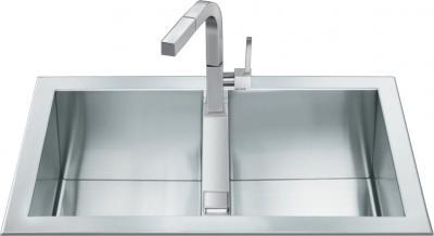 Мойка кухонная Smeg LQR862F-2 - Общий вид