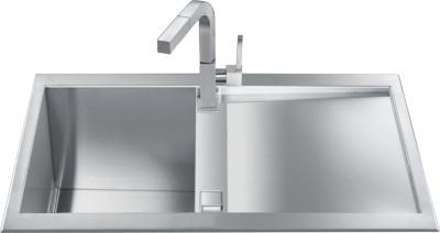 Мойка кухонная Smeg LQR861F-2 - Общий вид