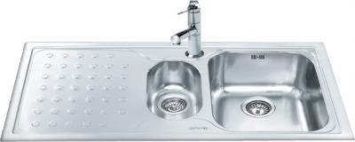 Мойка кухонная Smeg LV100S-3 - общий вид