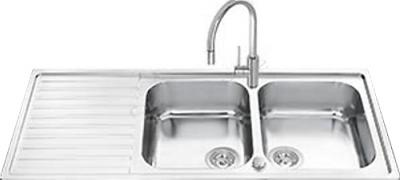 Мойка кухонная Smeg LM116S - общий вид