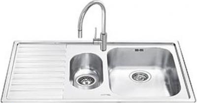 Мойка кухонная Smeg LM102S - общий вид