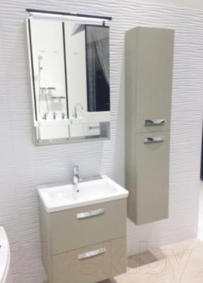 Шкаф-пенал для ванной Roca The Gap ZRU9302697 (бежевый) - в интерьере