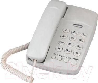 Проводной телефон Supra STL-310 (белый)