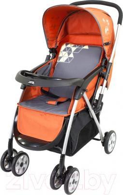 Детская прогулочная коляска Happy Dino LC288 (кирпичный) - общий вид