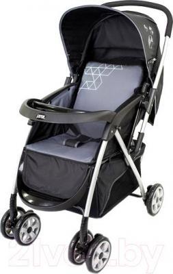 Детская прогулочная коляска Happy Dino LC288 (черно-серый) - общий вид